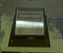 Výlez na střechu 600x600 Al hnědý plochá krytina - 1