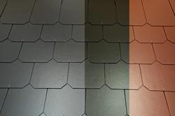Eternit Dacora šablona hl. 40x40 červená - 2