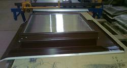 Výlez na střechu 600x600 Ruukki 30 RR23 grafitový - 2